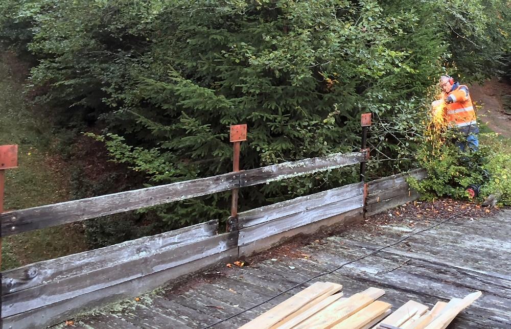 Mise en sécurité au pont des Bottelets