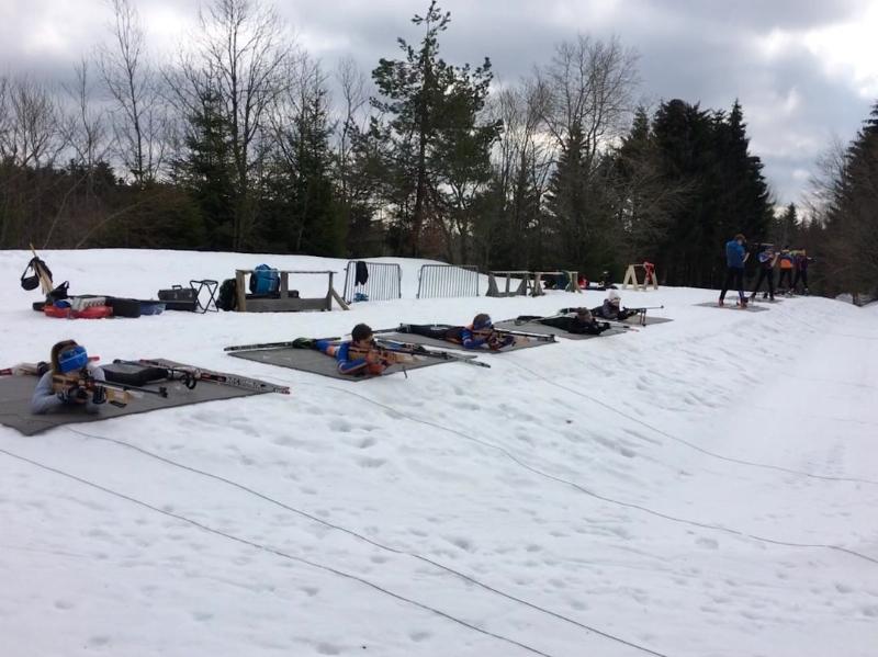 Entraînements biathlon sur neige