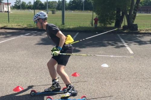 En vidéo : entraînement technique à ski-roues